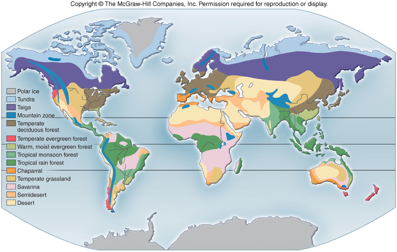 Chaparral World Map.Terrestrial Biomes